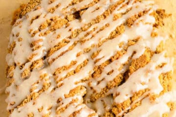 pumpkin streusel bread recipe card picture - square