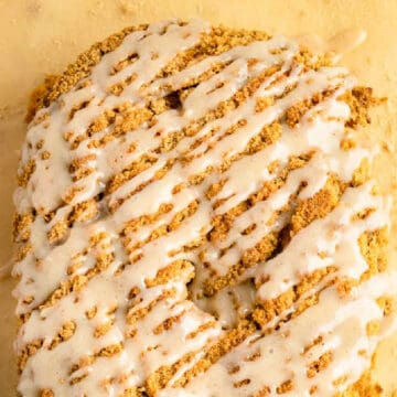 pumpkin streusel bread recipe card picture - square