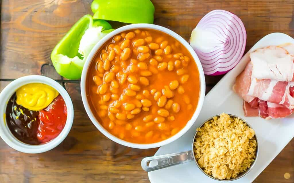 picture of ingredients for bbq baked beans