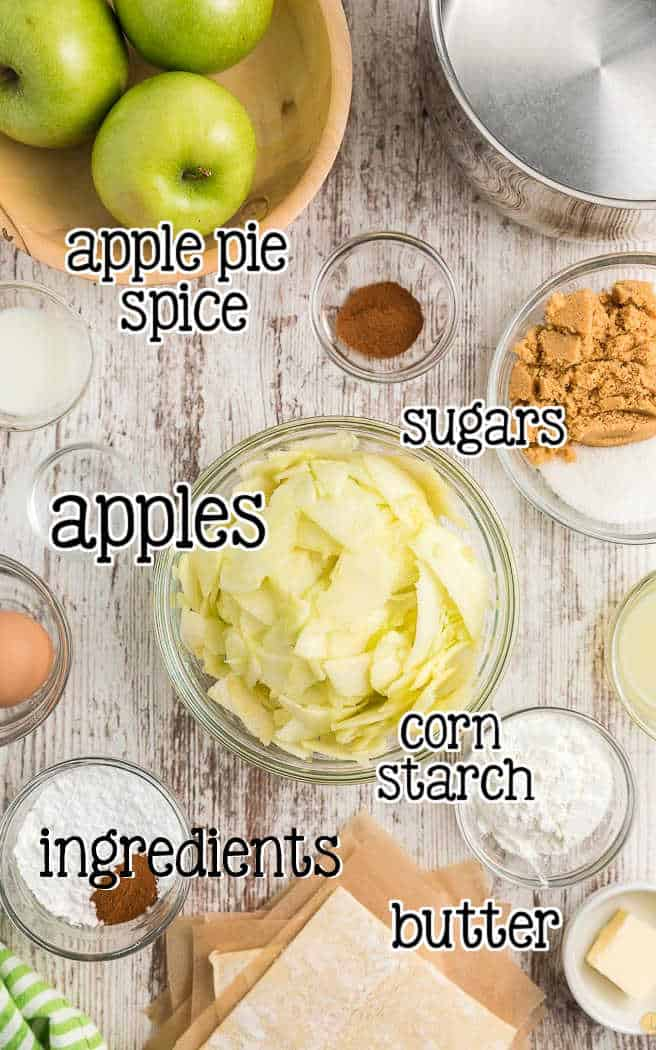 label picture of apple pie filling ingredients