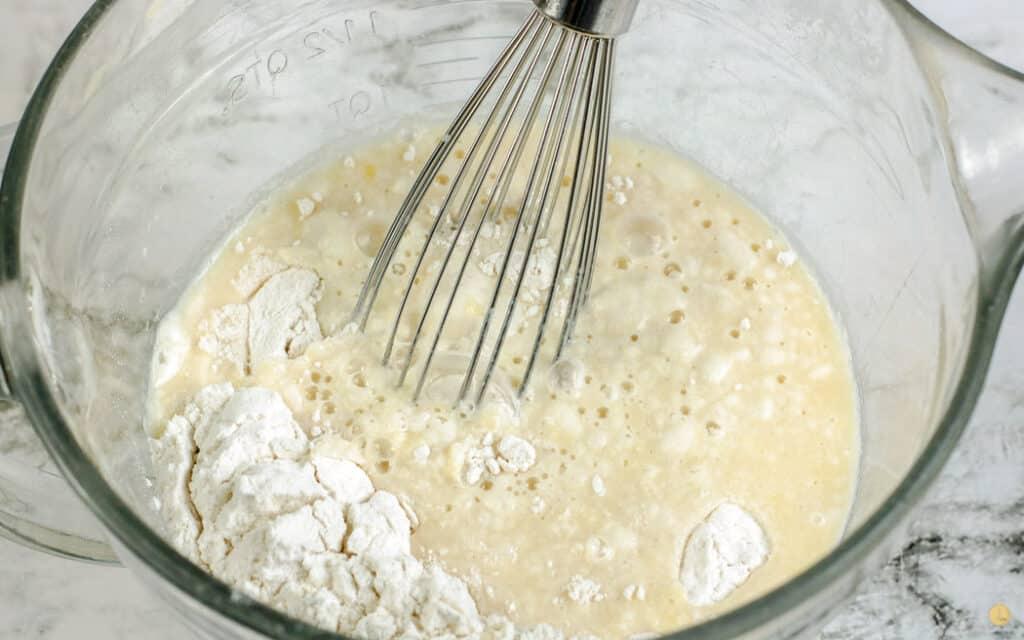 unmixed pancake batter
