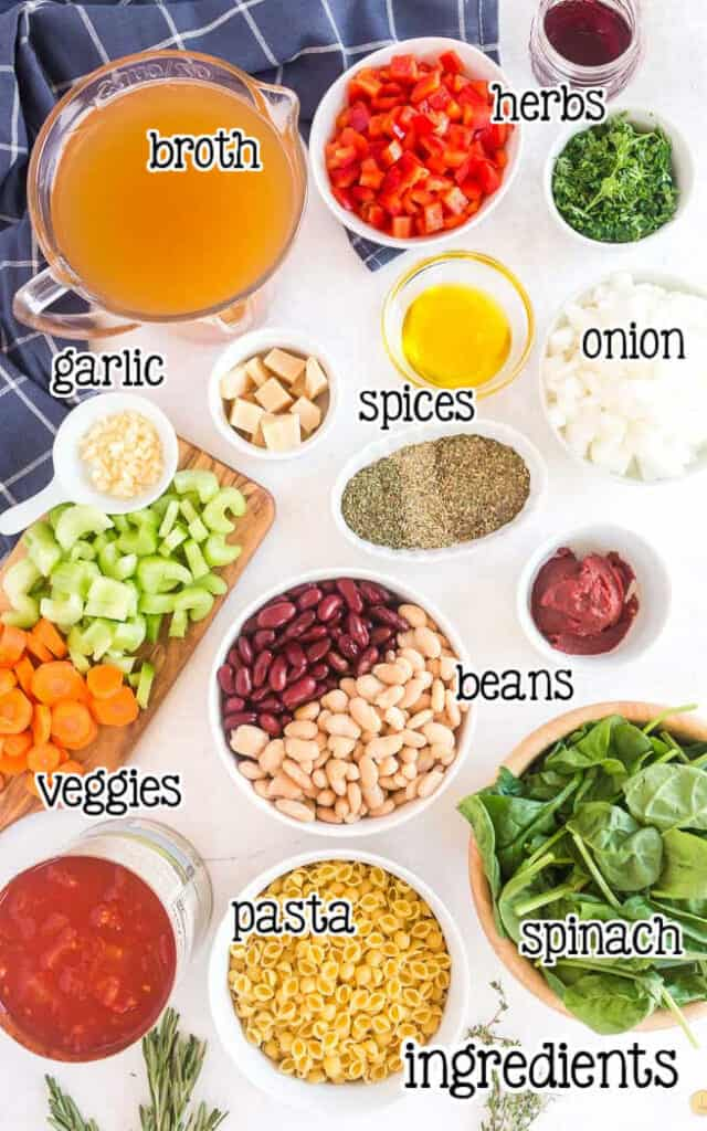 labeled picture of soup ingredients