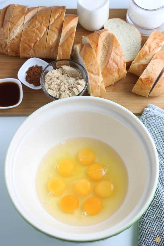 eggs without the shell in a white bowl