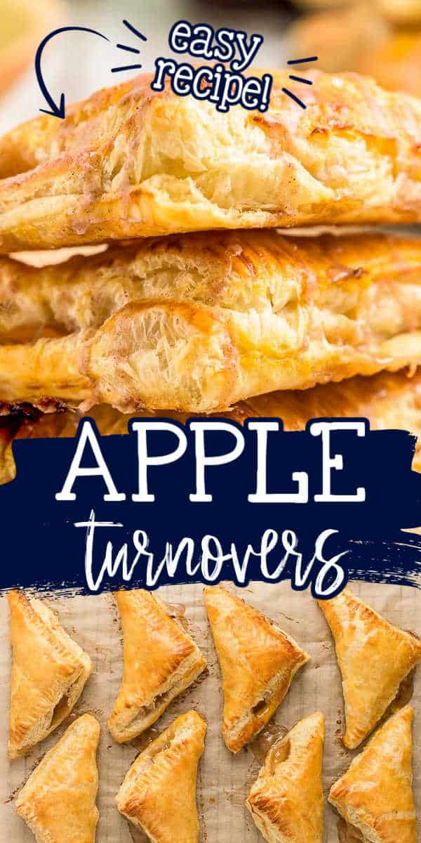 """collage of turnovers with text """"easy recipe apple turnovers"""""""