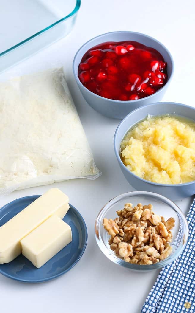 ingredients for cherry dump cake