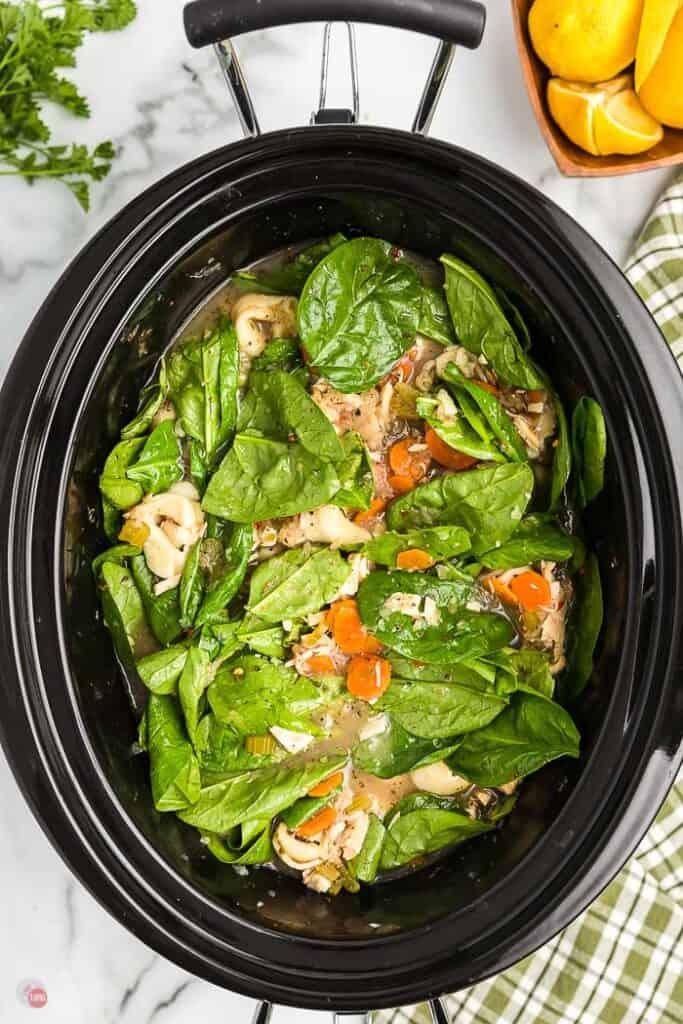 spinach in a crock pot