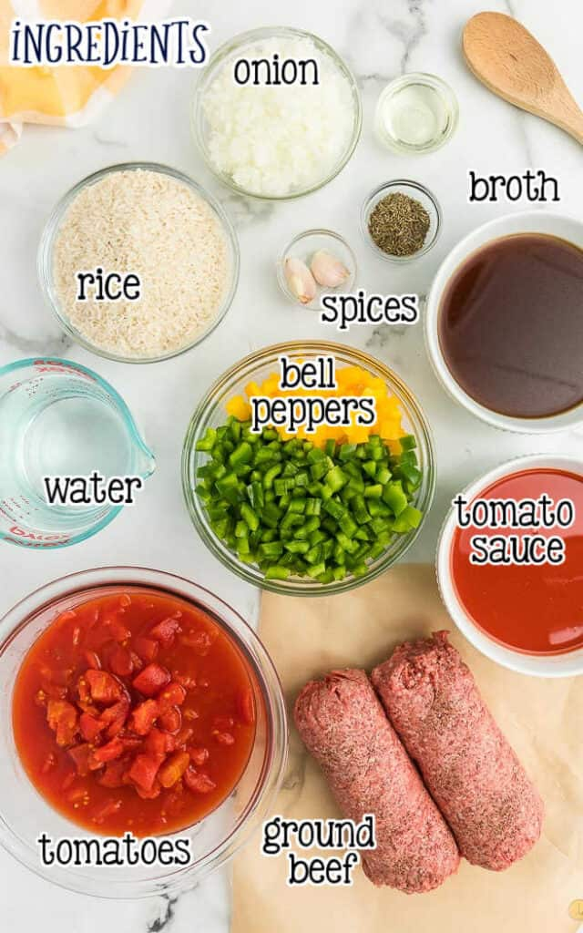 labeled picture of stuffed pepper soup ingredients