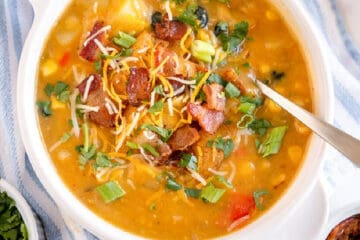 square picture of soup for recipe card