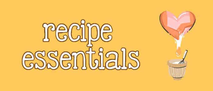 recipe essentials and a heart