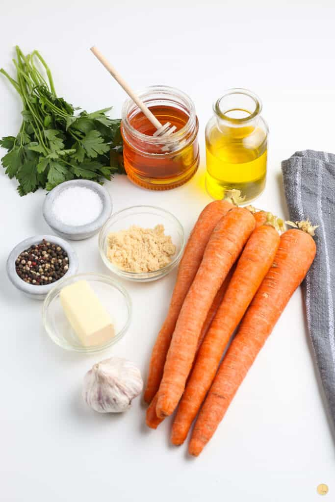 ingredients for glazed carrots
