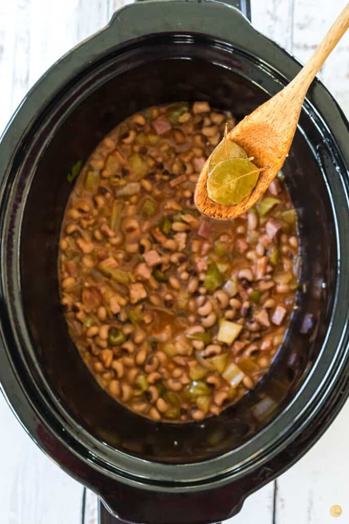 spoon over crockpot