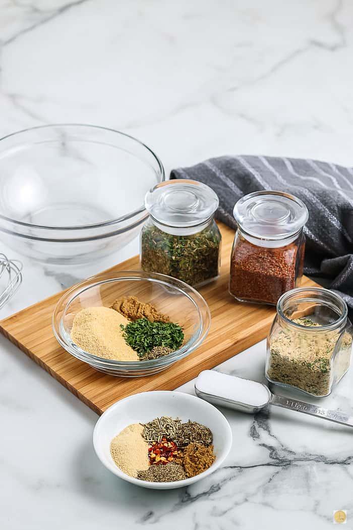 ingredients for seasoning