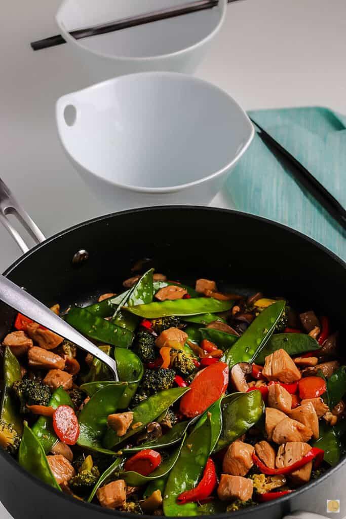 stir fry in a pan