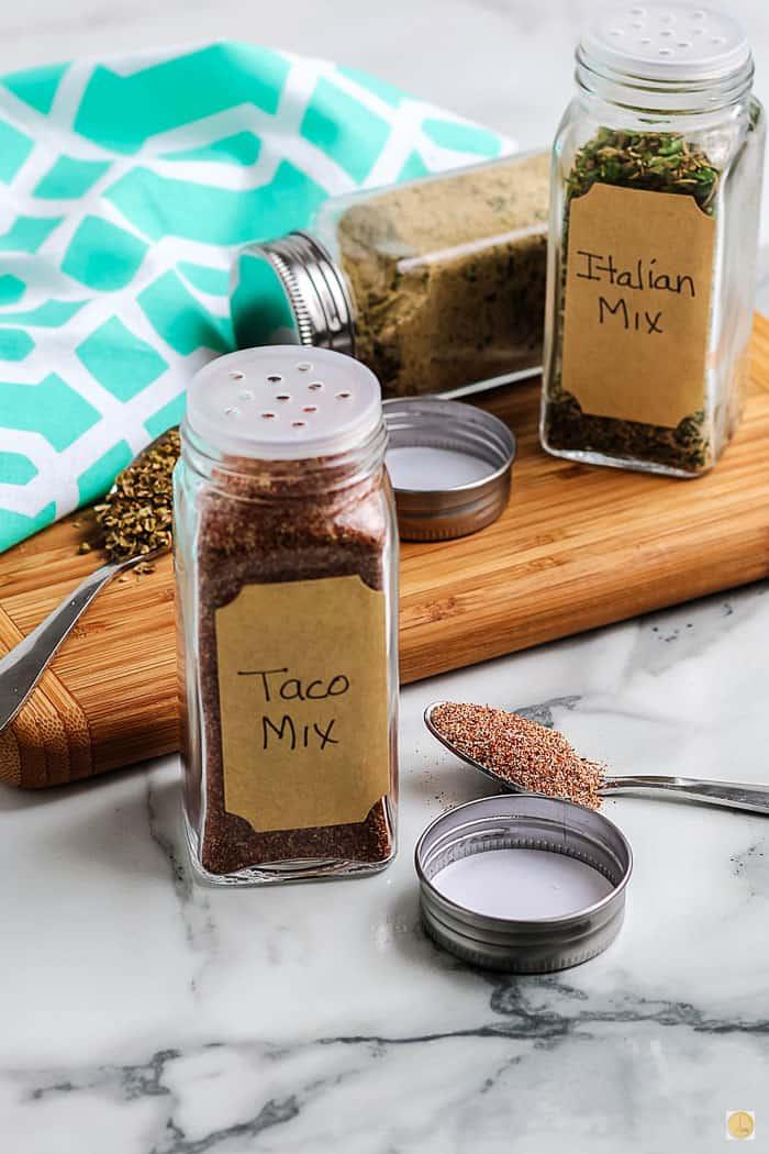 jar of taco seasoning
