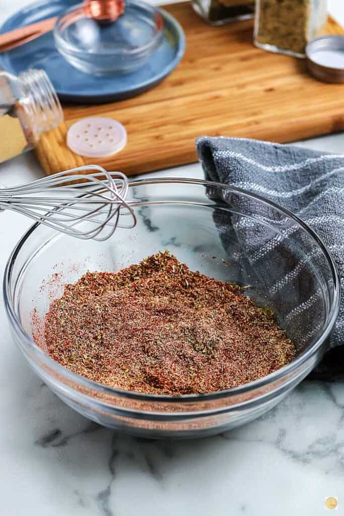 spice mix in a bowl with whisk