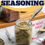 "jar of seasoning with text ""so many uses"""