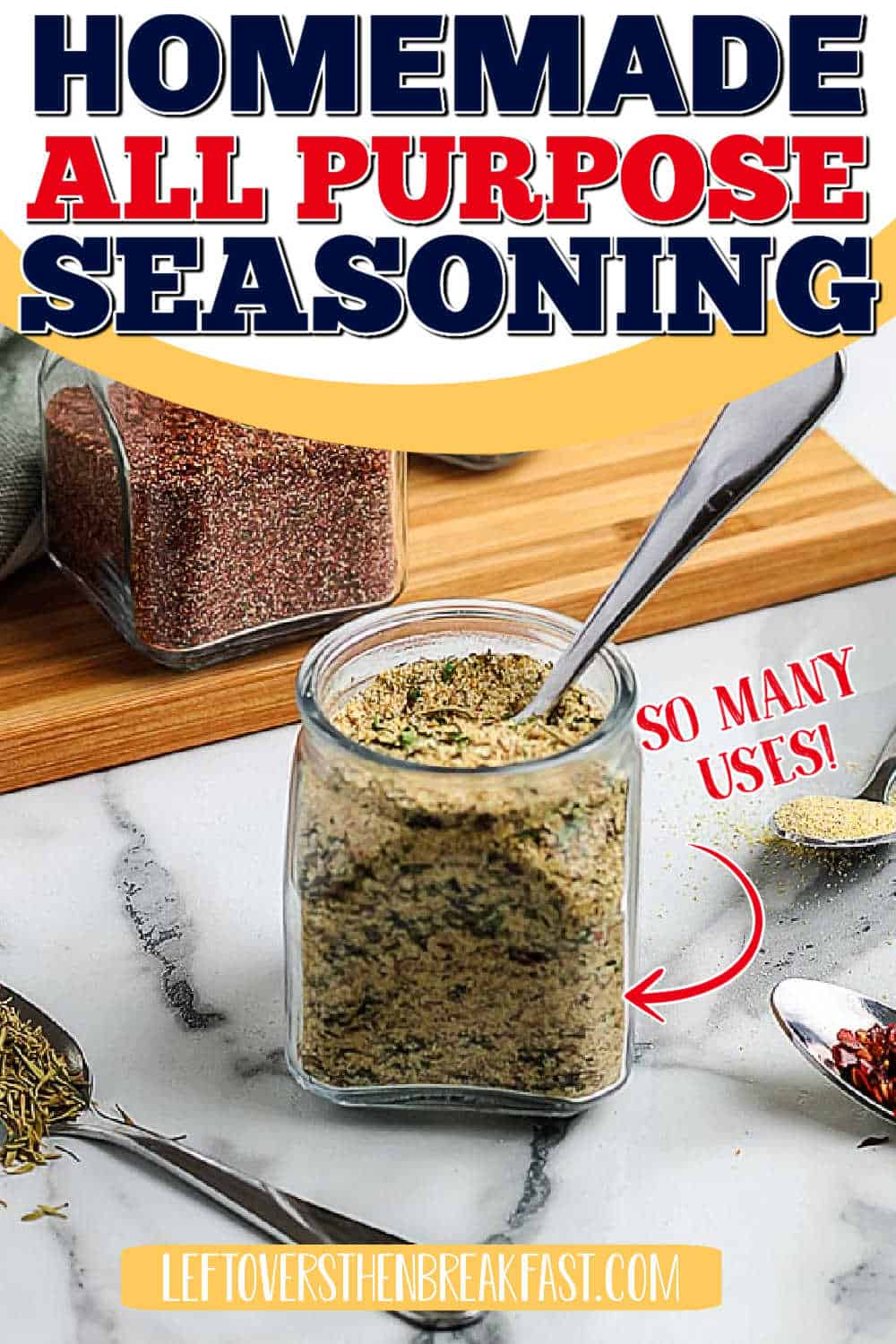 """jar of seasoning with text """"so many uses"""""""