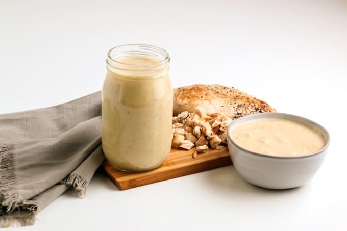 platter of jarred soup