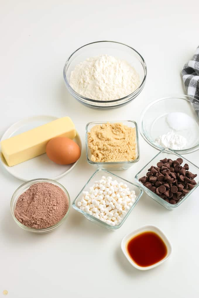 ingredients for hot cocoa cookies