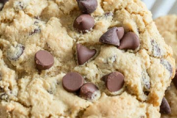 top of chocolate chip cookie