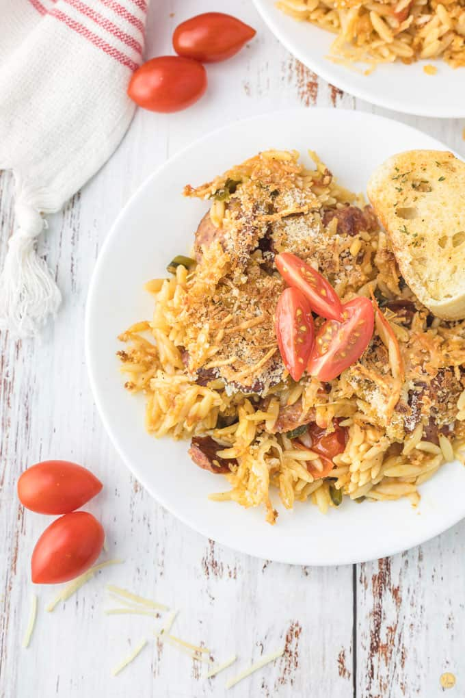 plate of pasta bake