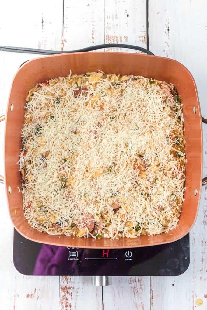 crumb coating over pan