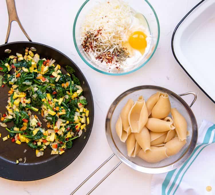 veggies and pasta