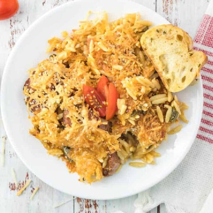 baked pasta on white plate