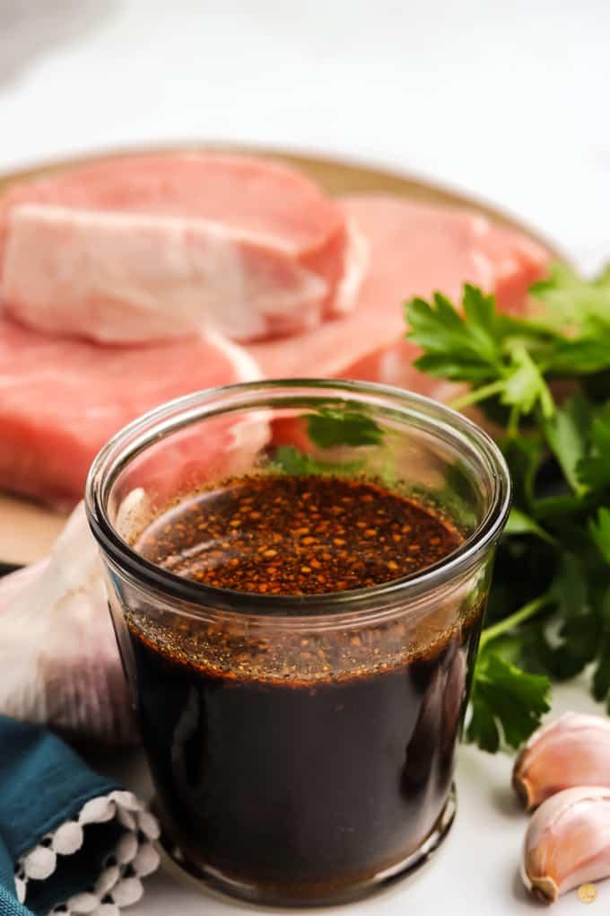 jar of pork marinade