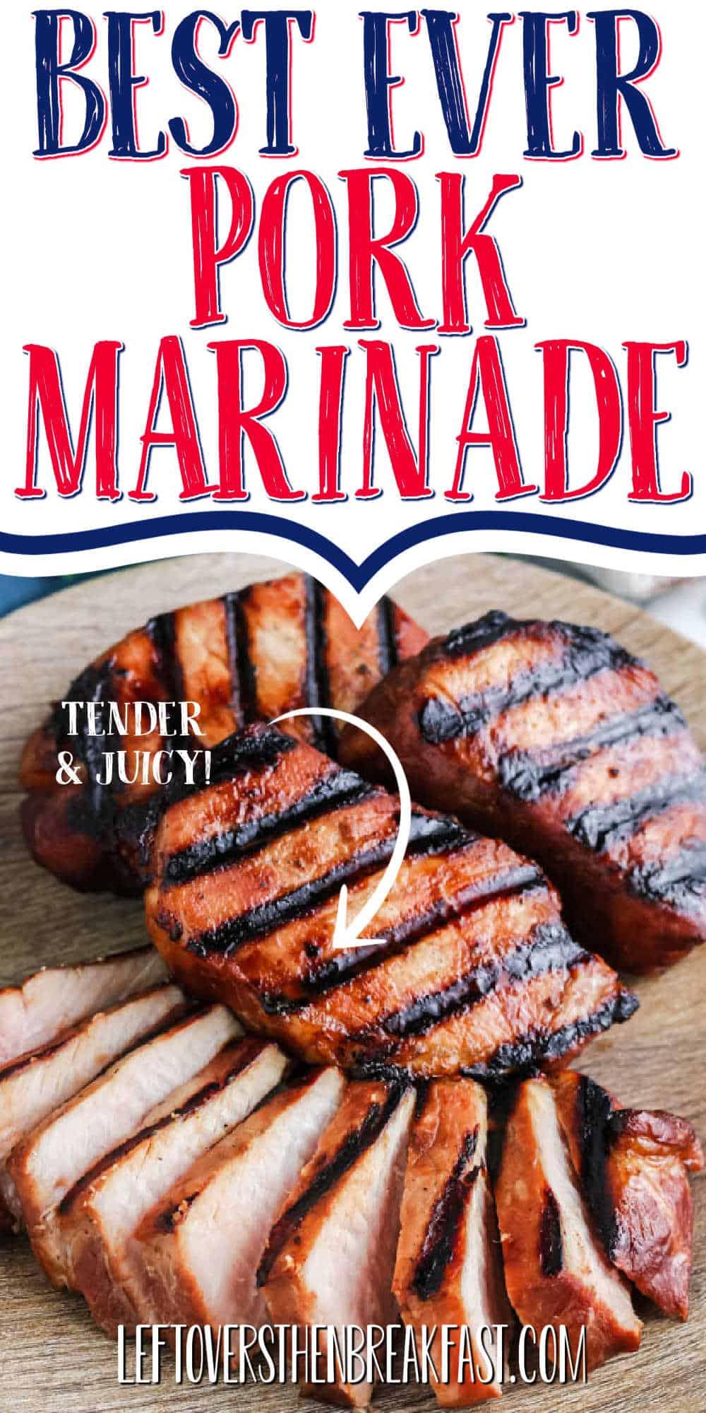 "pork chops with text ""Best Ever Pork Marinade"""