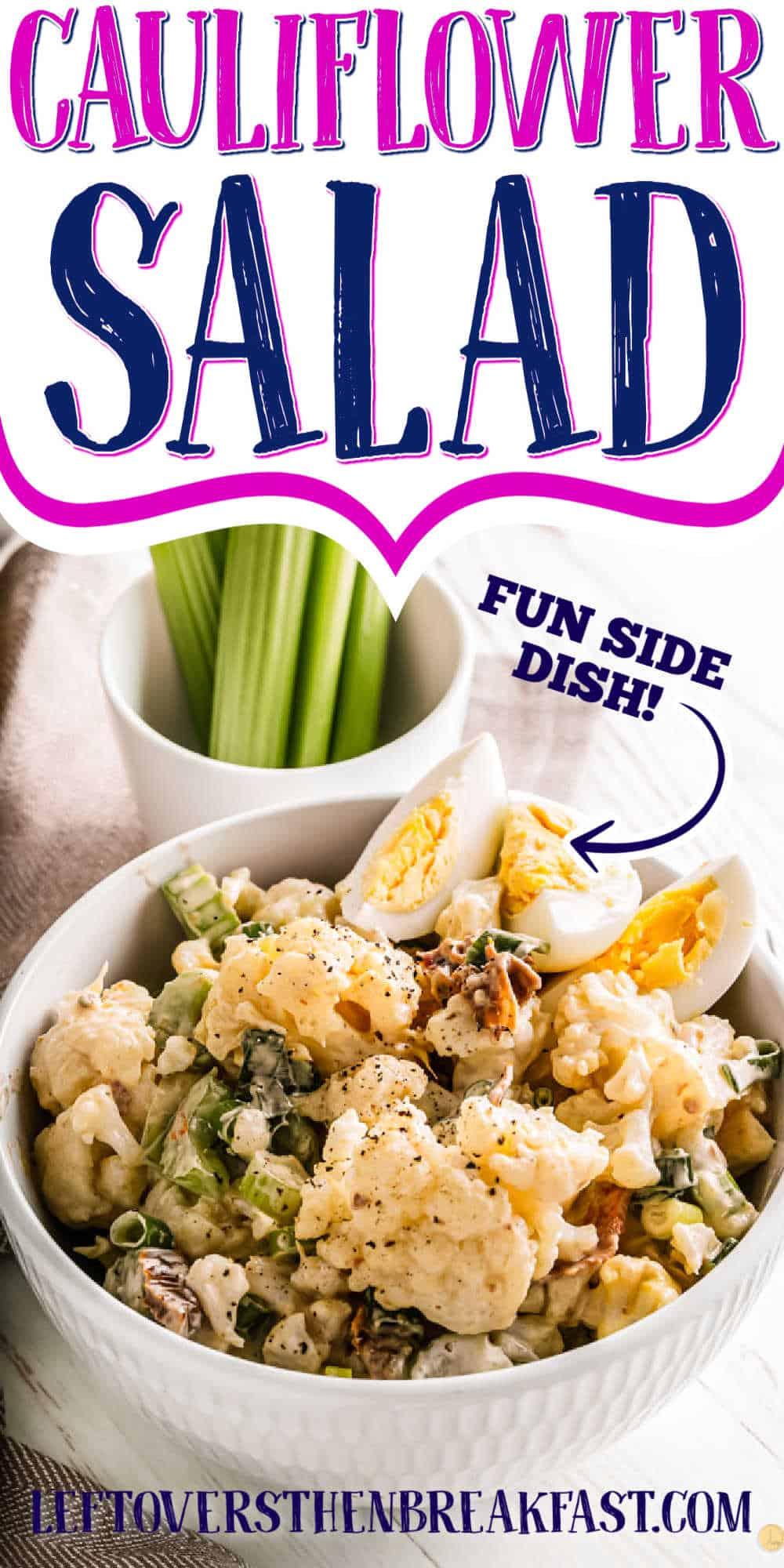 "salad with text ""cauliflower salad"""