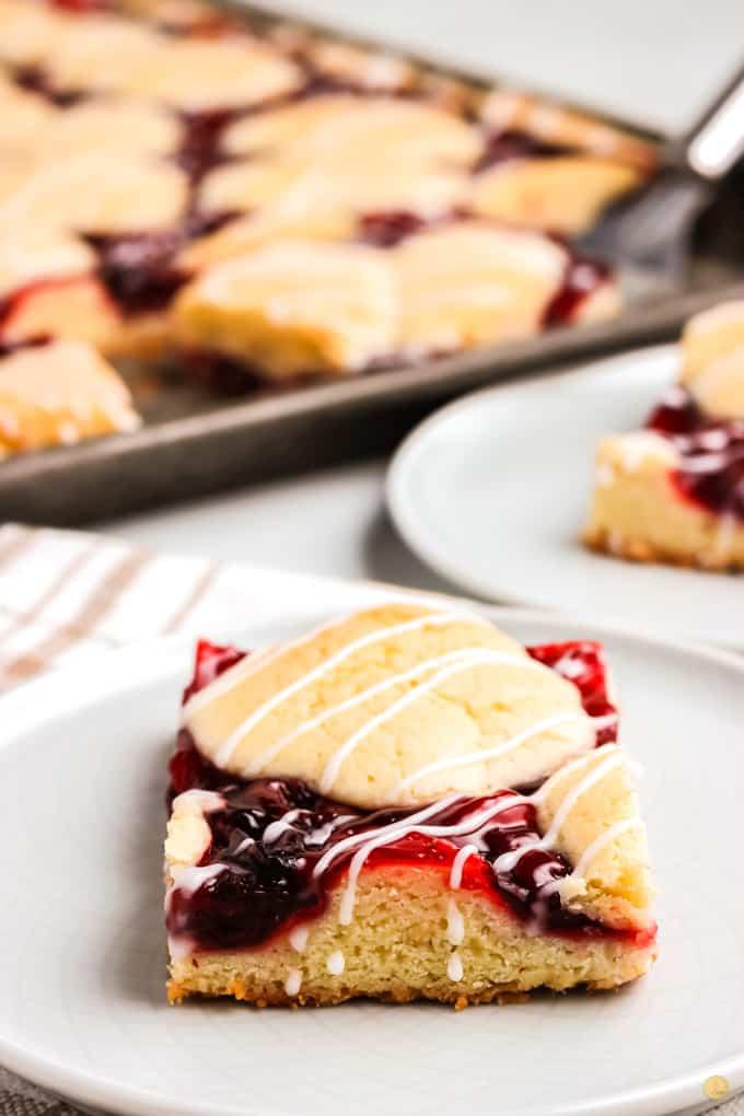 cherry pie bar on plate
