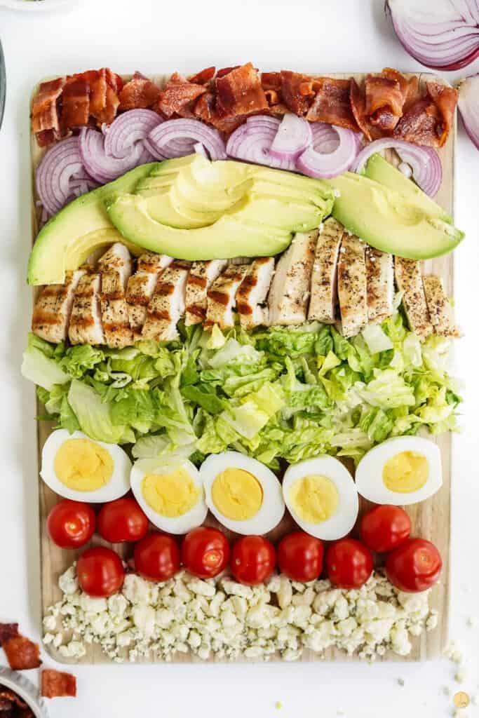 platter of salad ingredients