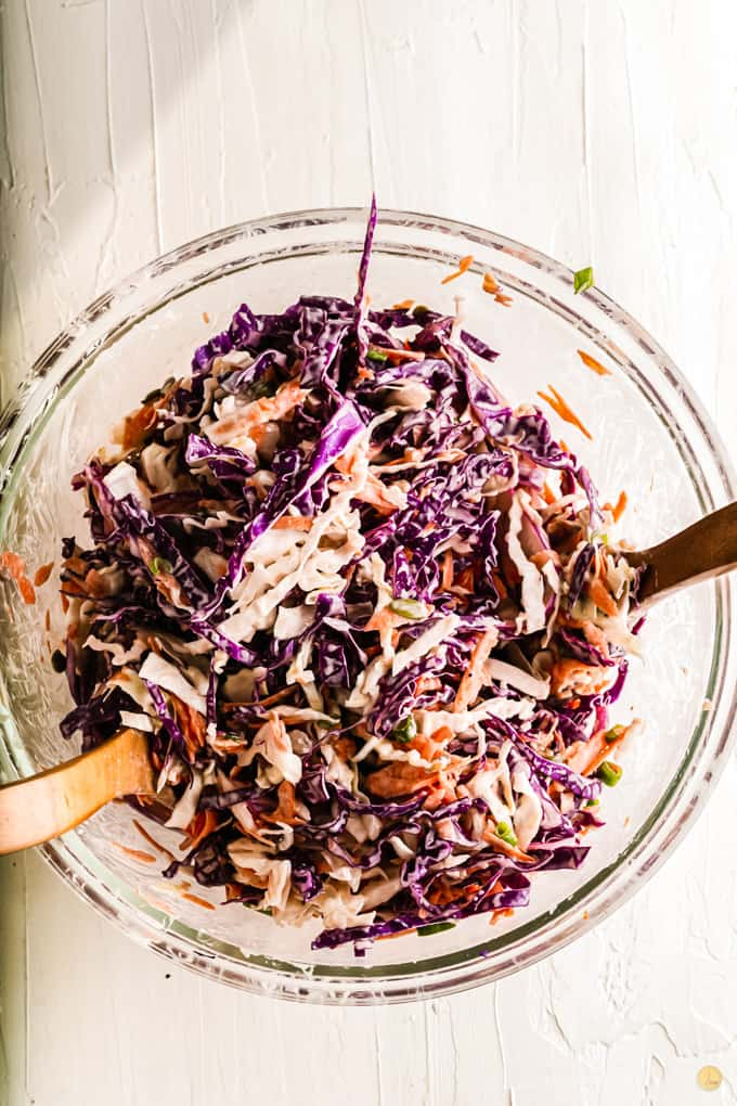 mixed purple slaw