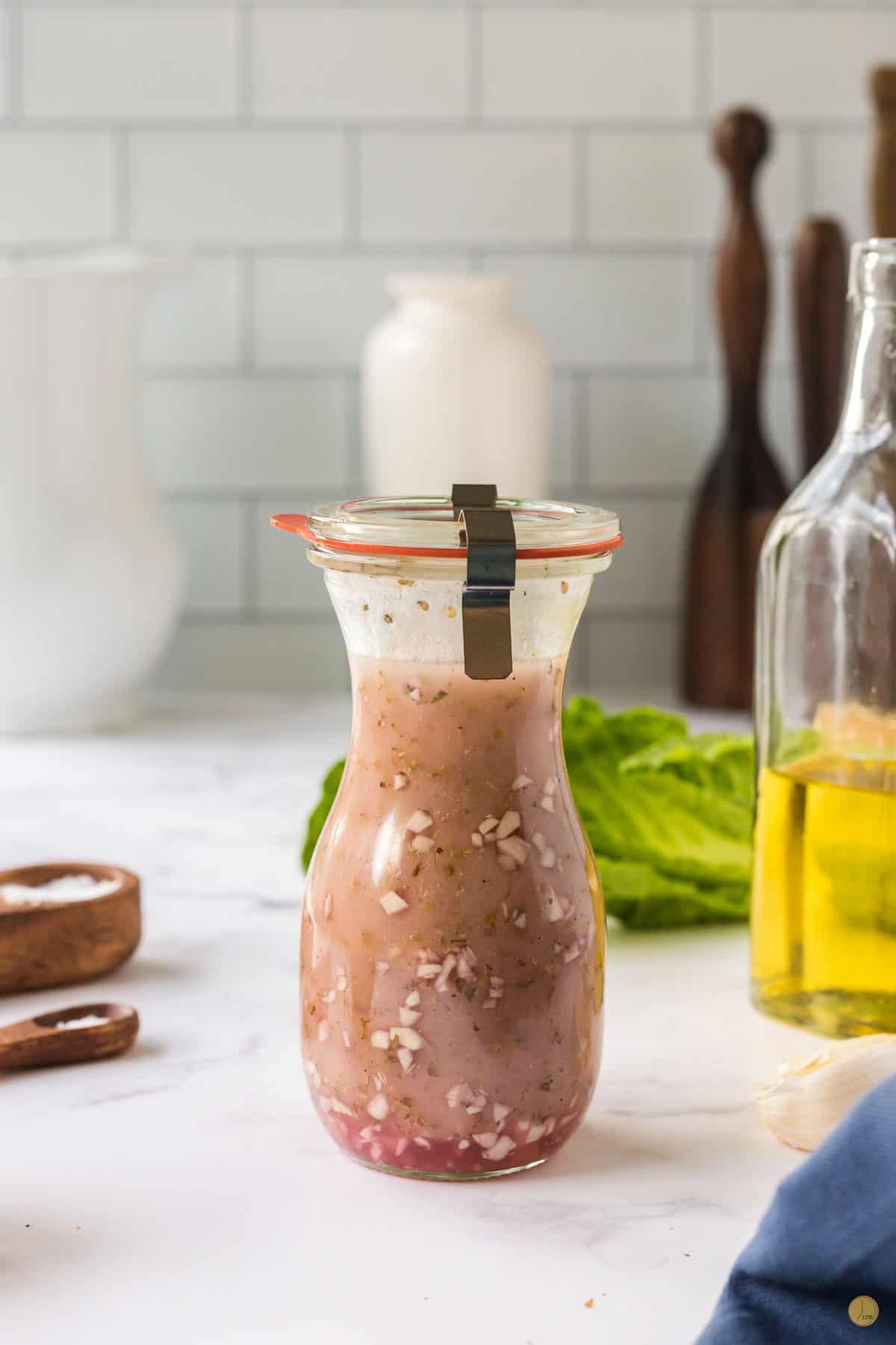greek salad dressing in a bottle