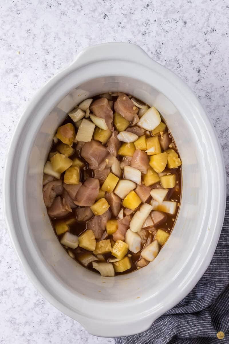 uncooked pineapple chicken