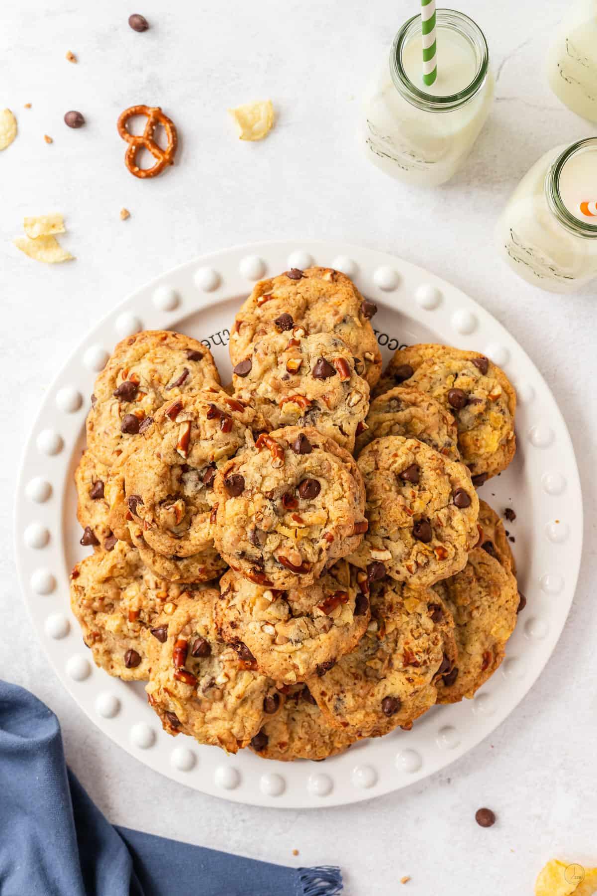 platter of kitchen sink cookies