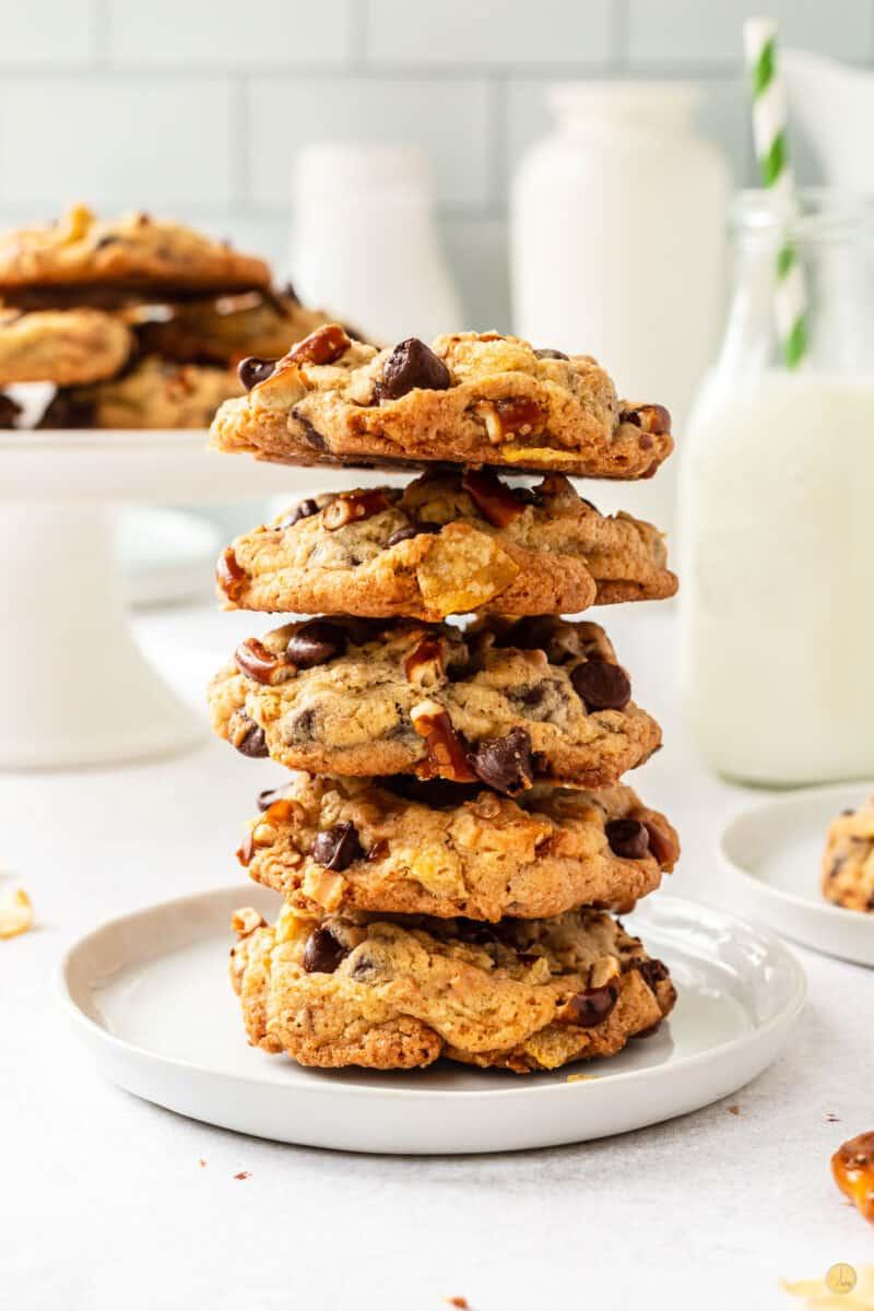 stack of kitchen sink cookies