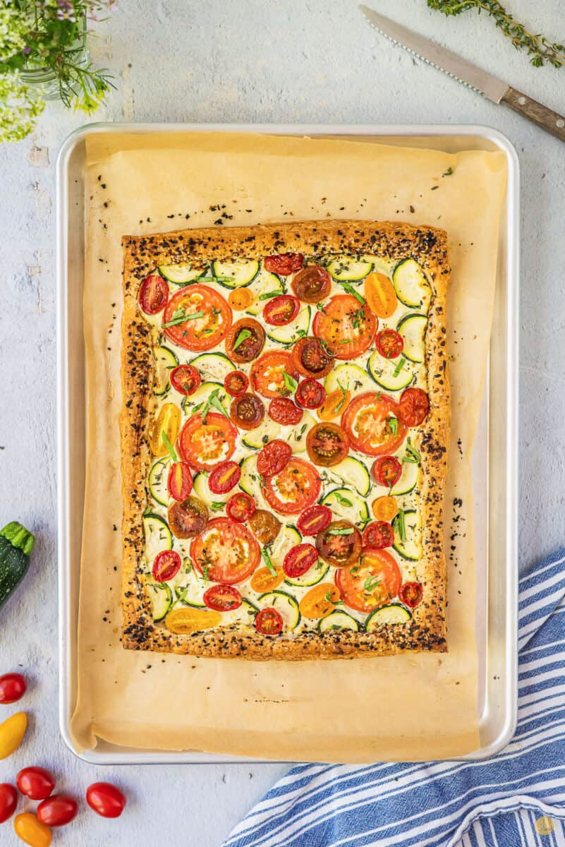 baked savory vegetable tart
