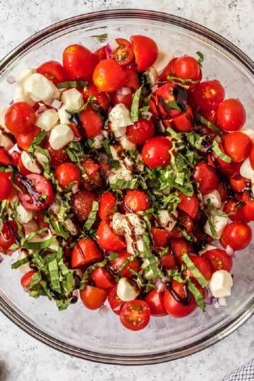 bowl of tomato salad