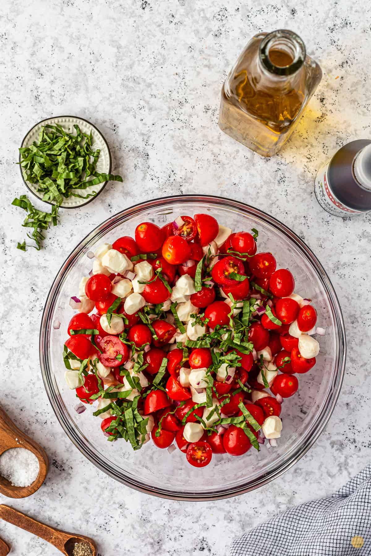 caprese salad in a bowl