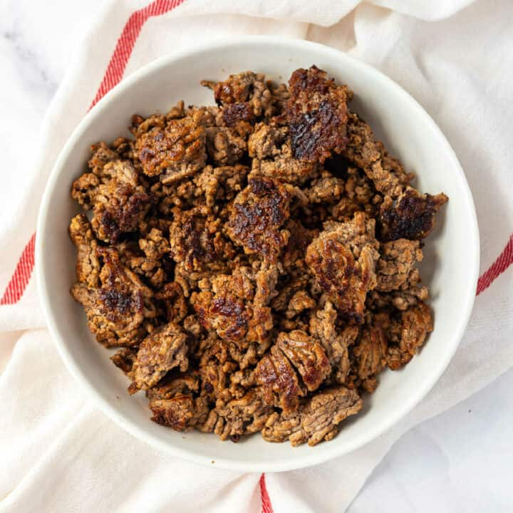 bowl of ground beef