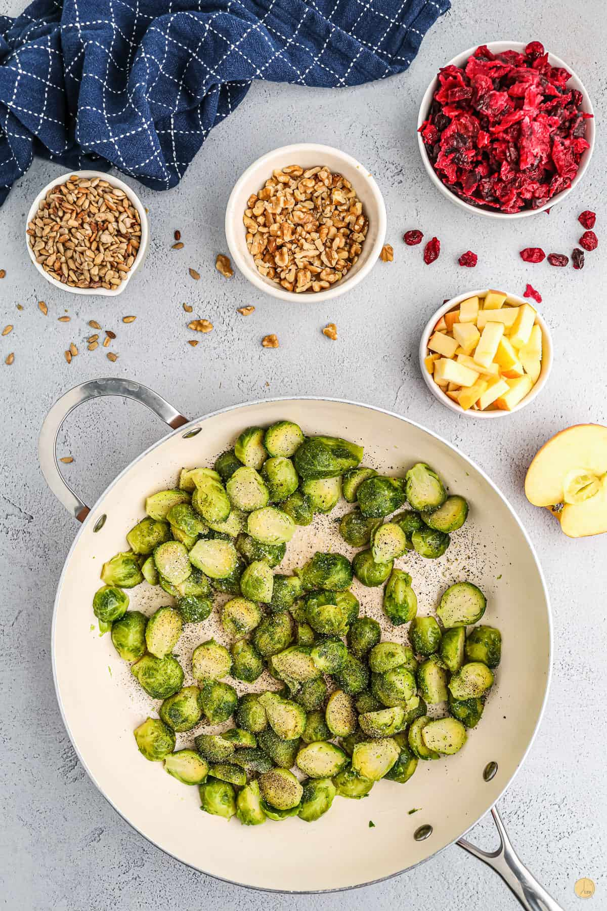 sprouts in a pan