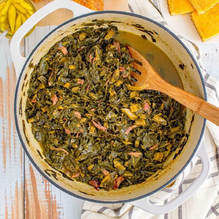 pot of collard greens