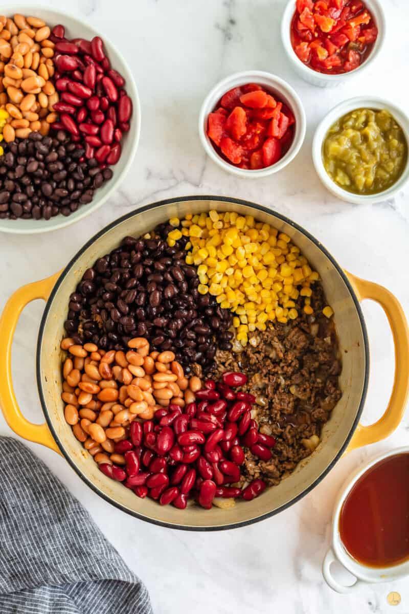 beans in a pot