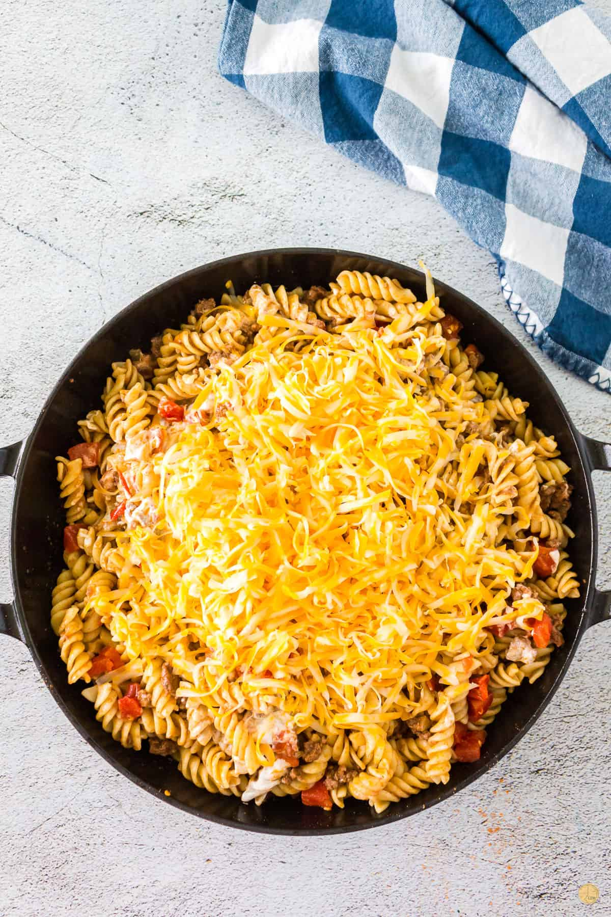 cheese in a pan