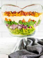 7 LAYER SALAD {Overnight Salad!}