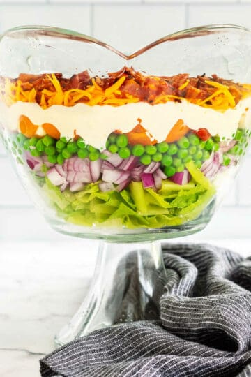 bowl of overnight salad