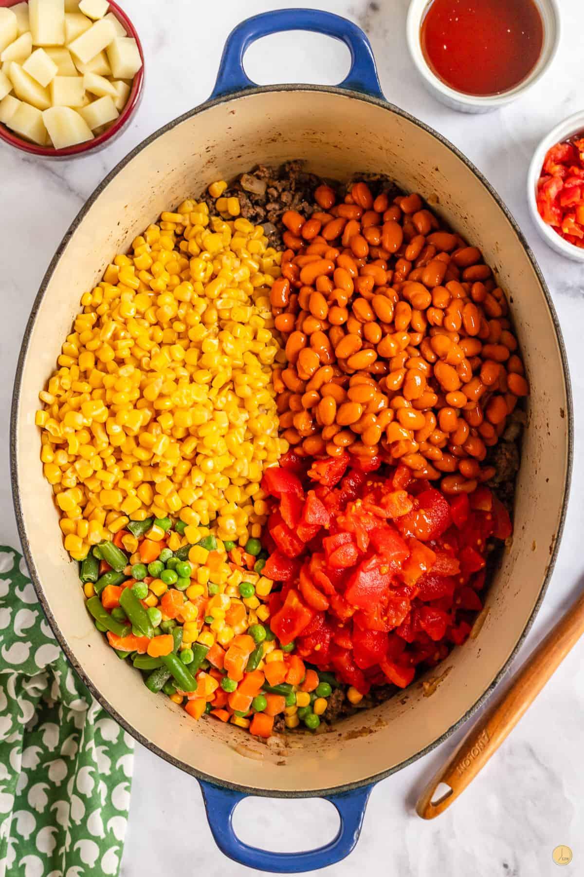 vegetables in a pot