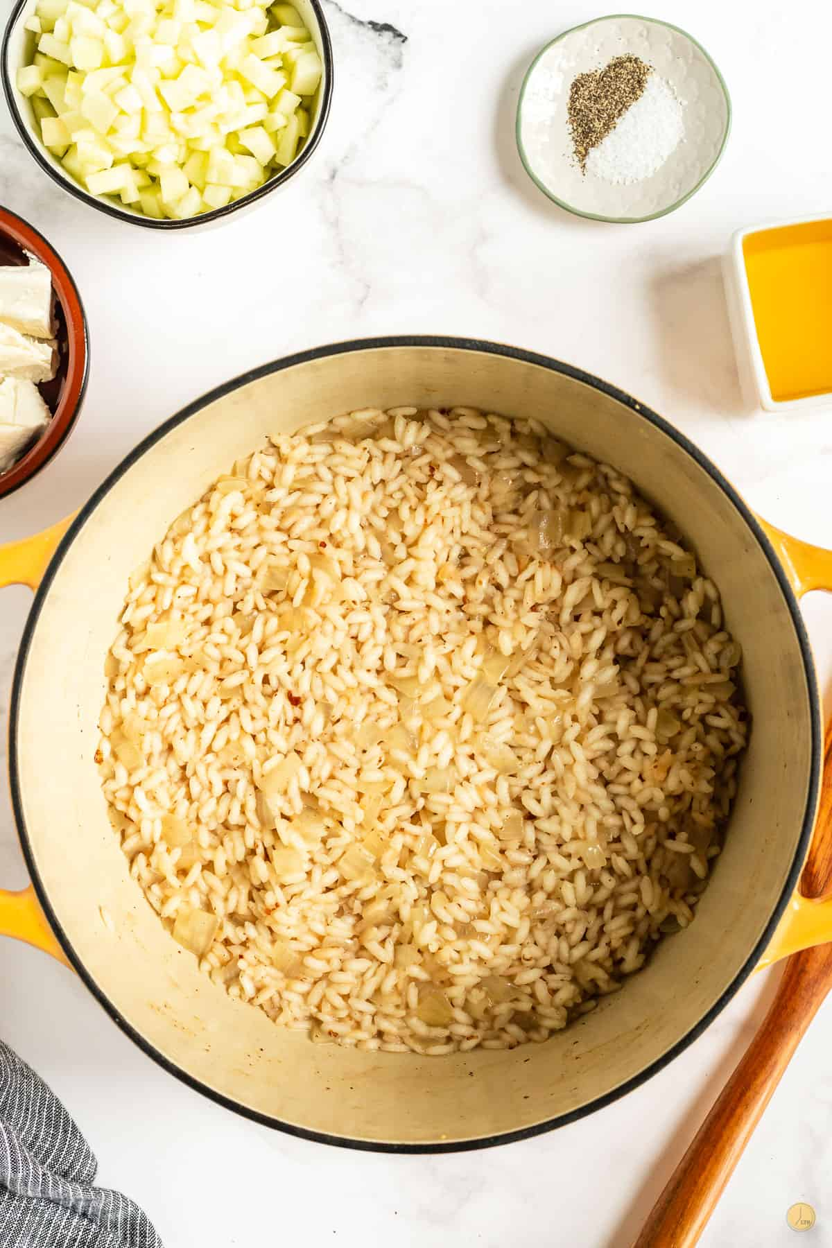 uncooked risotto